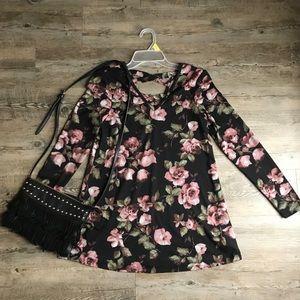 IZ Byer Floral Dress